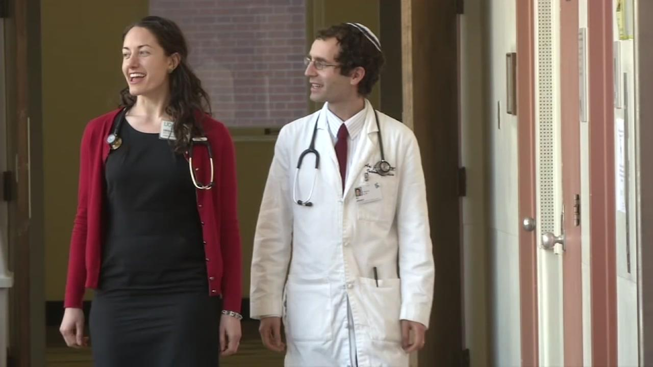 Doctors Jessica Beckerman and Ari Johnson are seen in this undated image.
