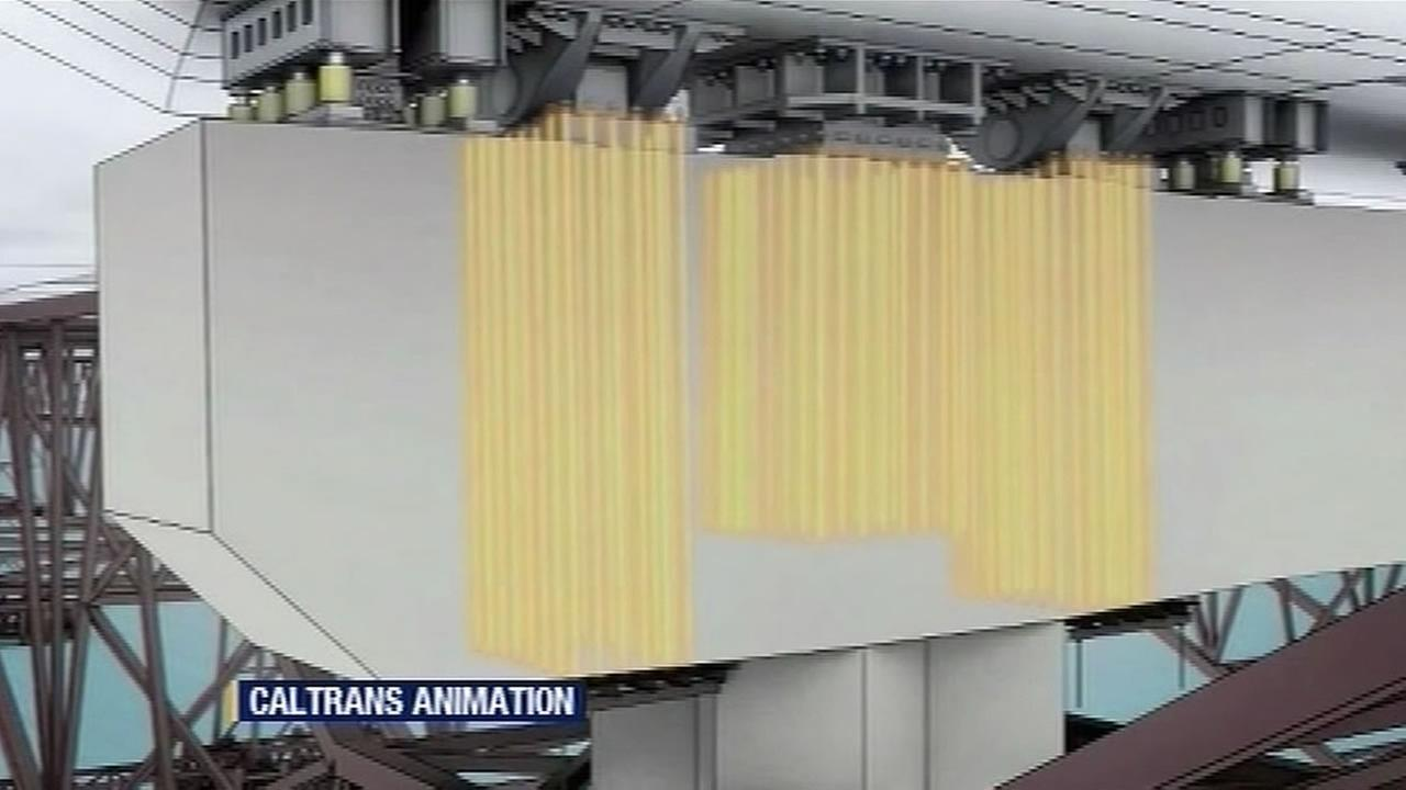 Bay Bridge rods animation (KGO)