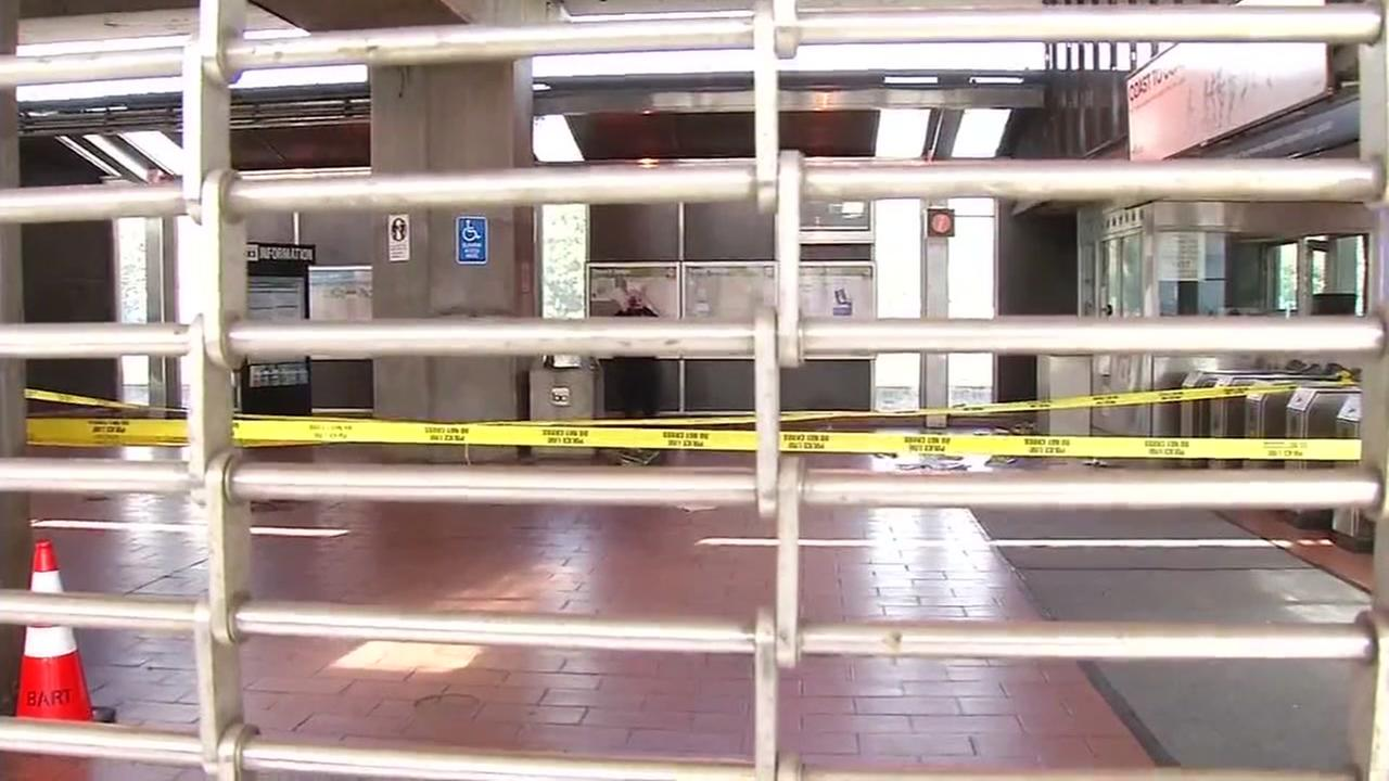 The interior of the coliseum BART station is seen after a stabbing on Saturday, April 7, 2018.