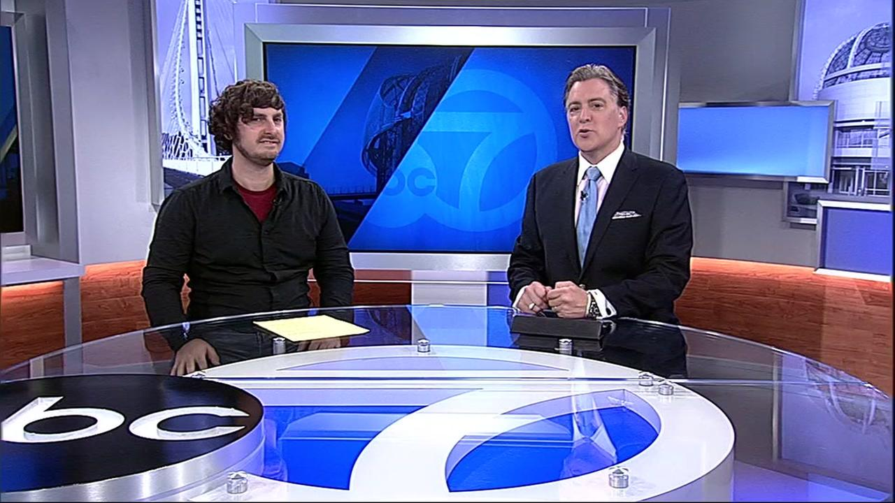TechCrunch Editor Josh Constine is seen with ABC7 News Dan Ashley on Monday, April 9, 2018.