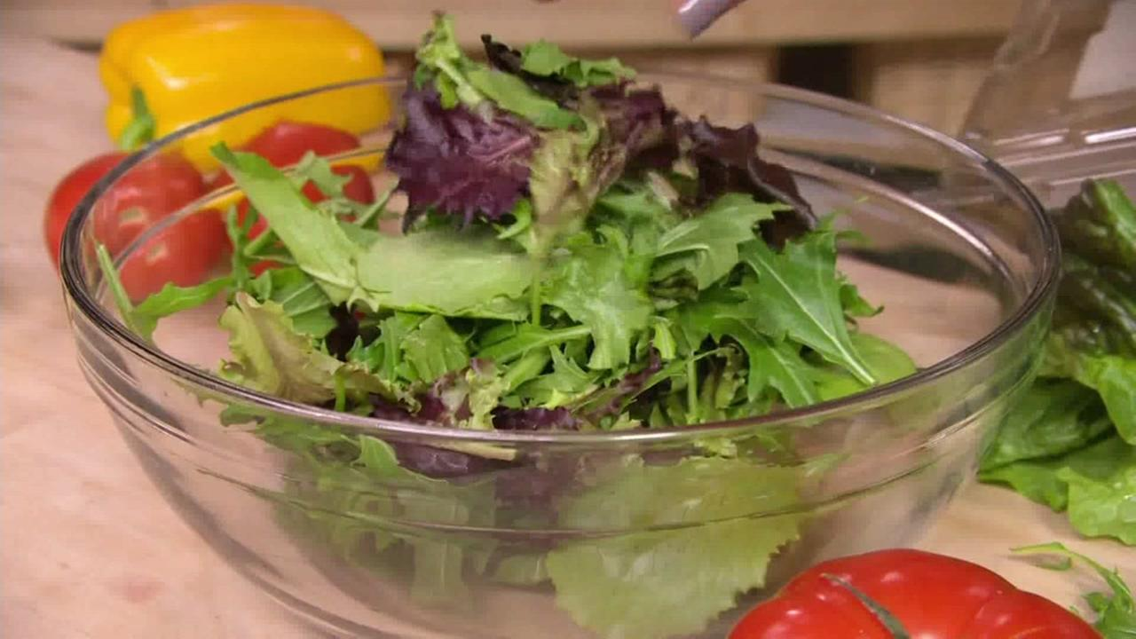 Salad is seen in this undated image.