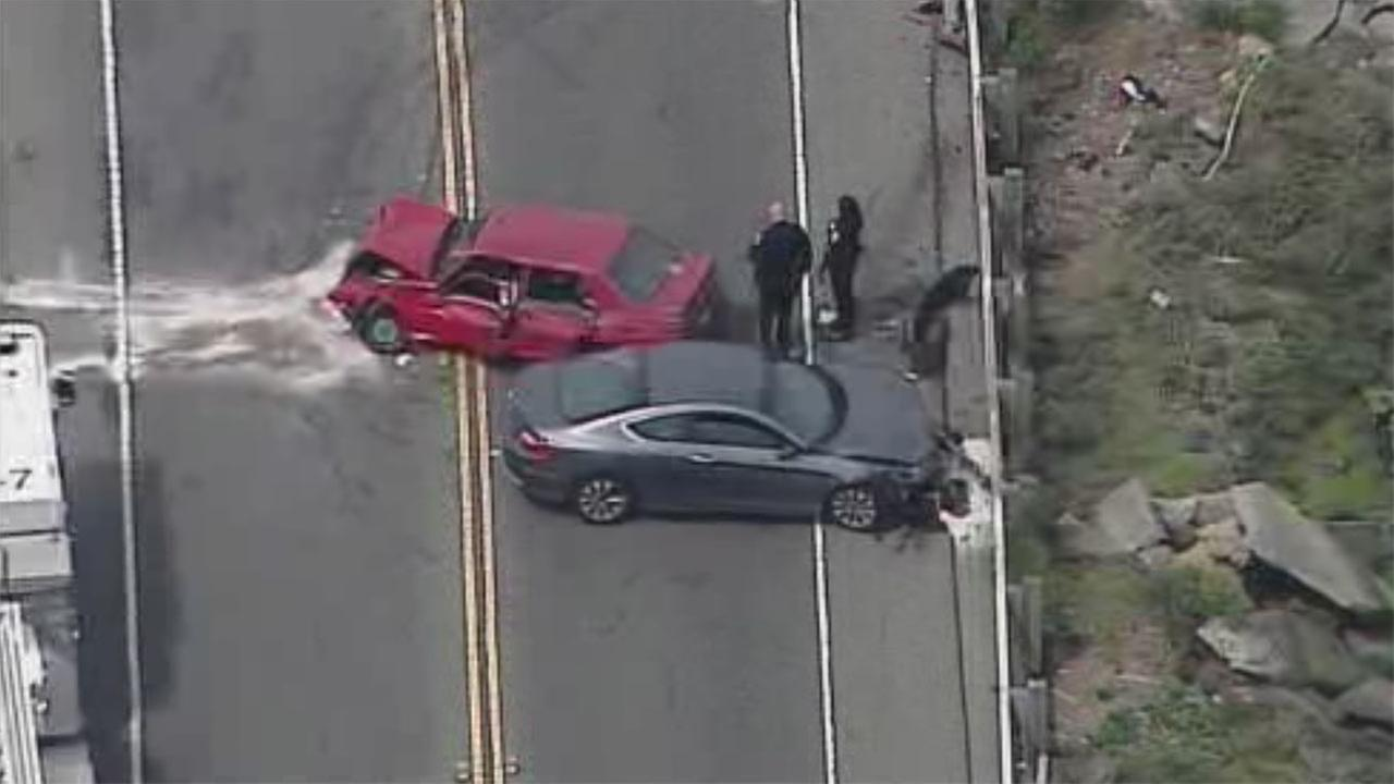 Accident in Oakland, California on Wednesday, April 18, 2018.