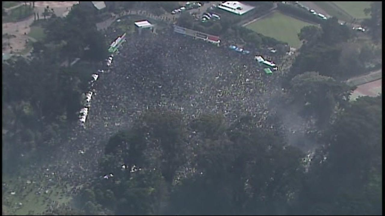 VIDEO: SKY7 over massive 4/20 celebration in San Francisco