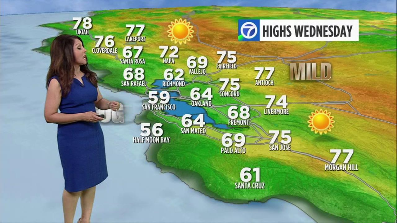 AccuWeather forecast for Wednesday morning