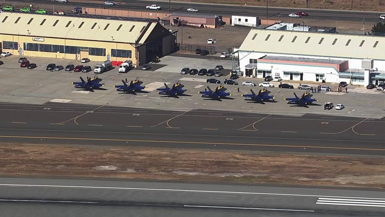 RAW VIDEO: Blue Angels arrive to Bay Area