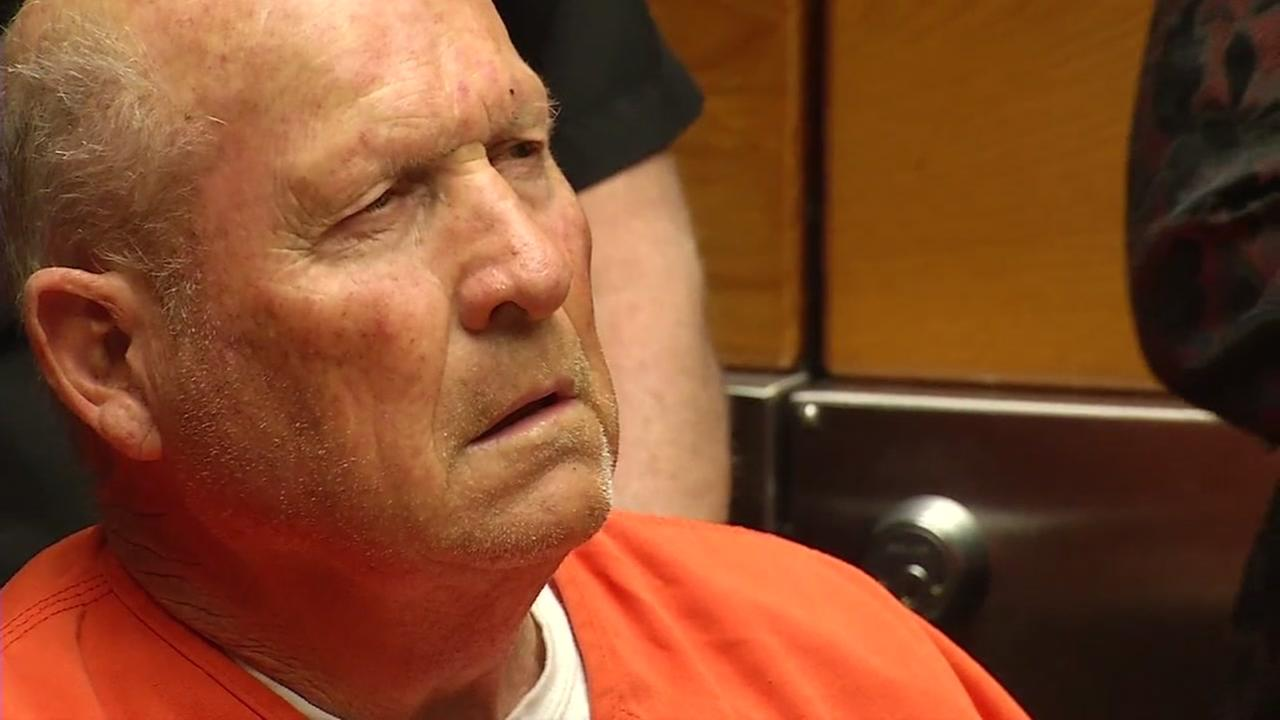 Joseph James DeAngelo Jr., the suspected Golden State Killer, is seen in court in Sacramento County in this undated image.