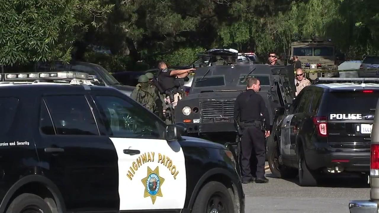 Police at shooting scene in Mill Valley, California on Friday, May 4, 2018.