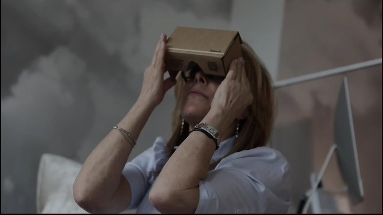 A person is seen using a virtual reality headset in this undated image.