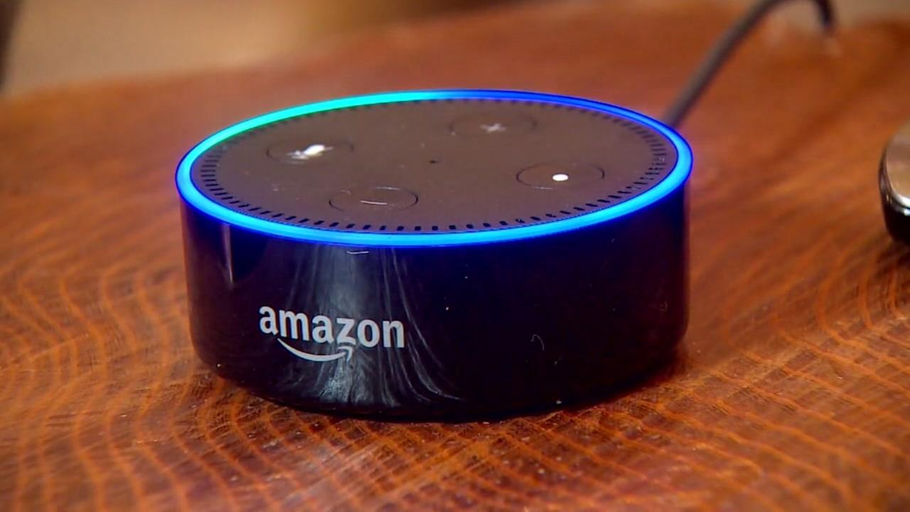 This is an undated image of Amazons Alexa device.