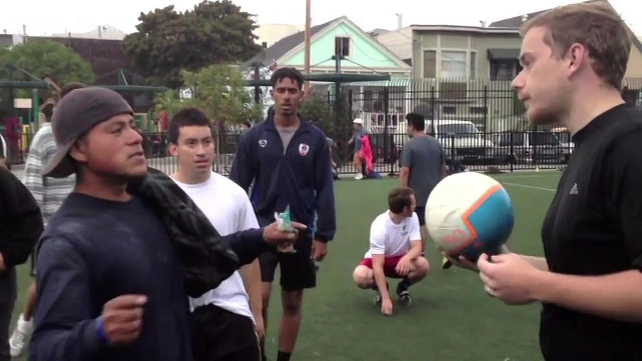 tech workers confront Mission District teens about soccer field