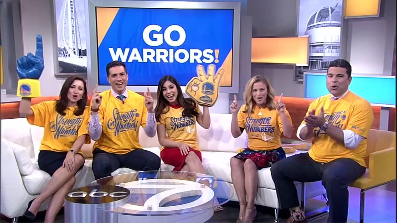 WARRIORS-ROCKETS: Morning Team Gear Challenge