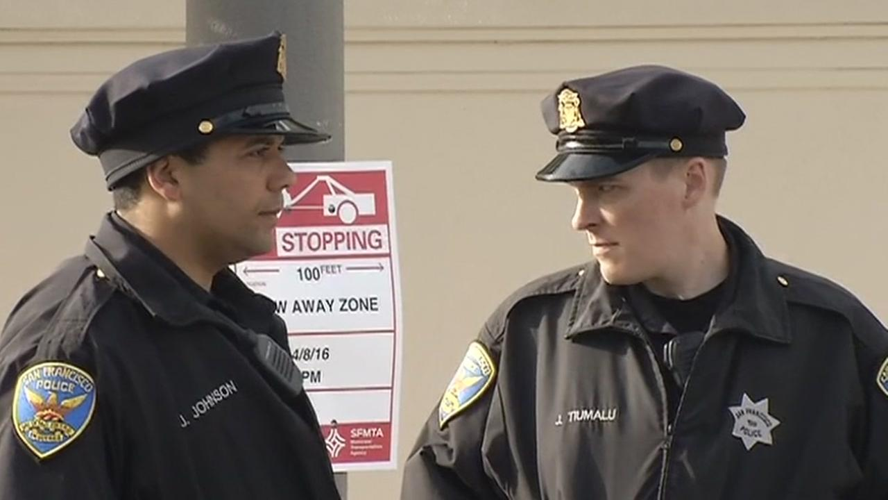 Two San Francisco police officers are seen in this undated image.