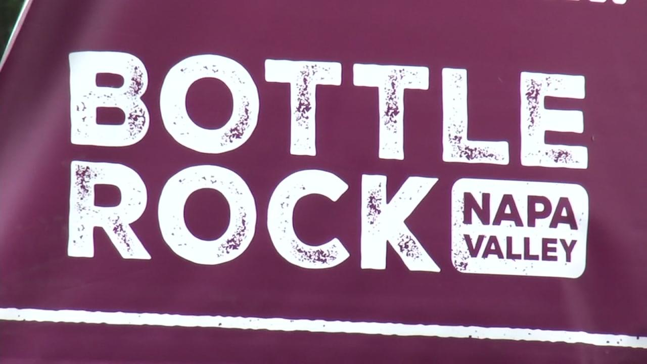 A sign for the Bottlerock Napa music festival appears on Friday, May 25, 2018.
