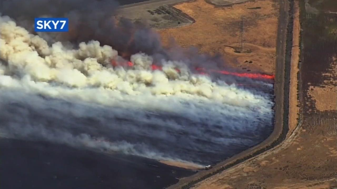 Fires burn in Byron, Calif. on Wednesday, May 30, 2018.