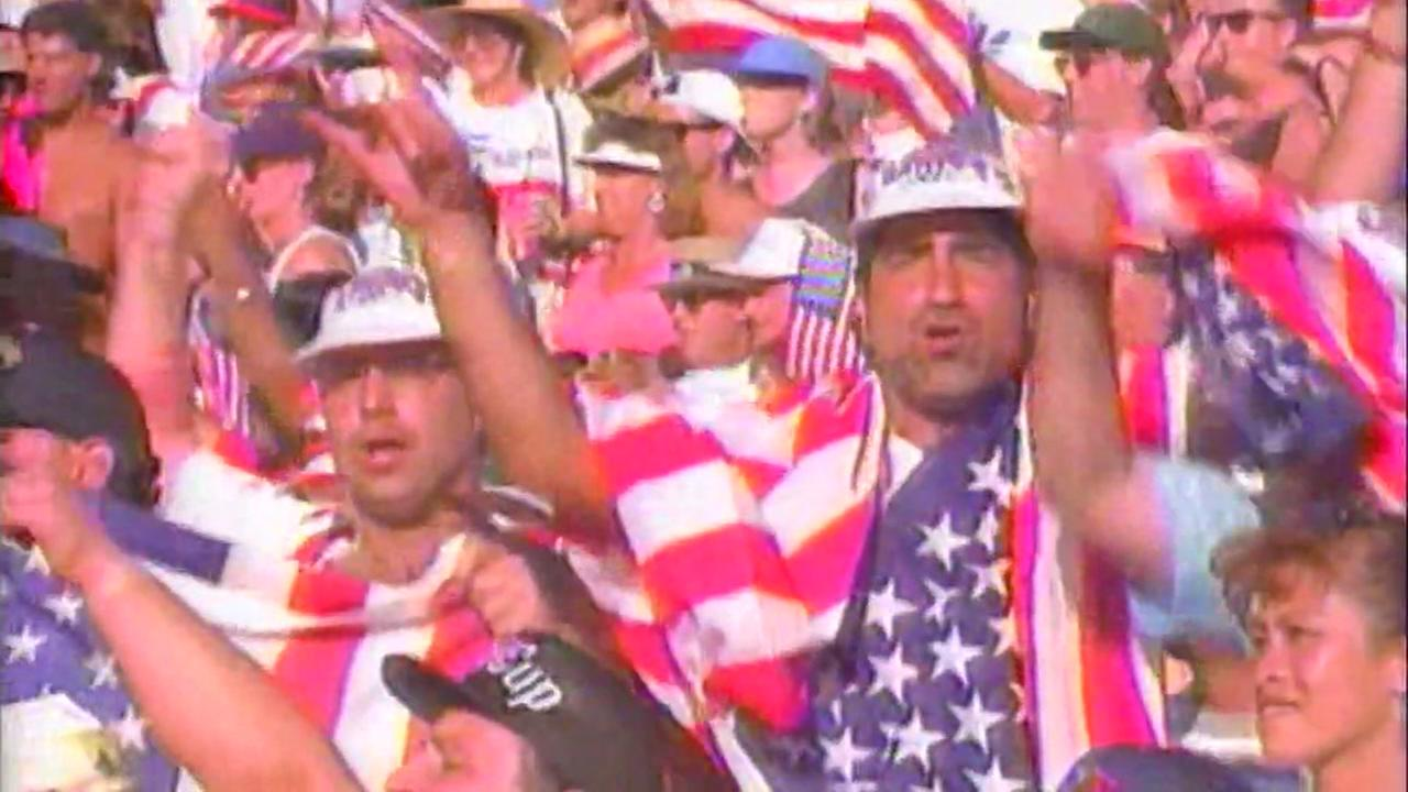 World Cup fans are seen cheering in this undated image.