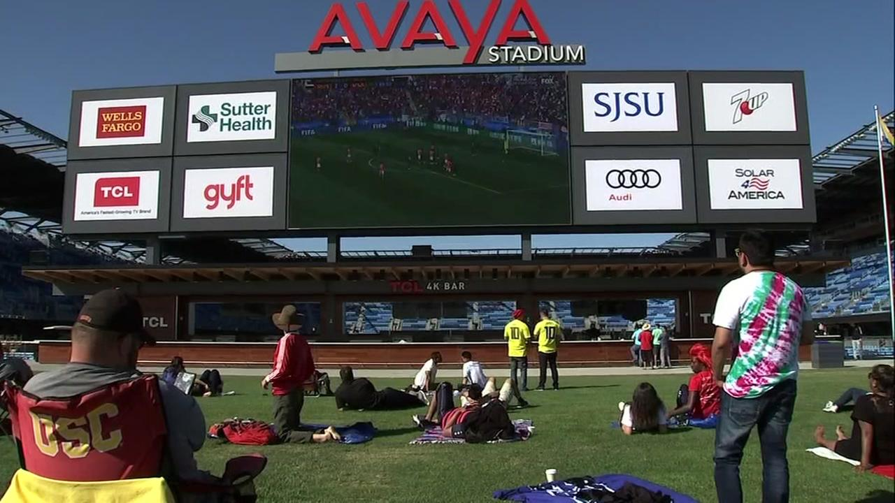 World Cup watch party at Avaya Stadium in San Jose, California on Thursday, June 14, 2018.