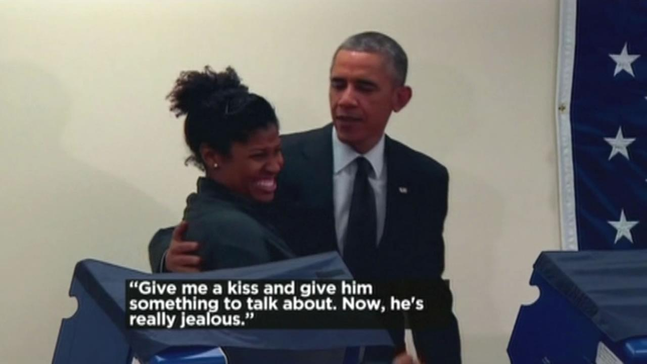 There was a lot of talk on Tuesday about how President Obama jokingly tried to steal a mans girlfriend.