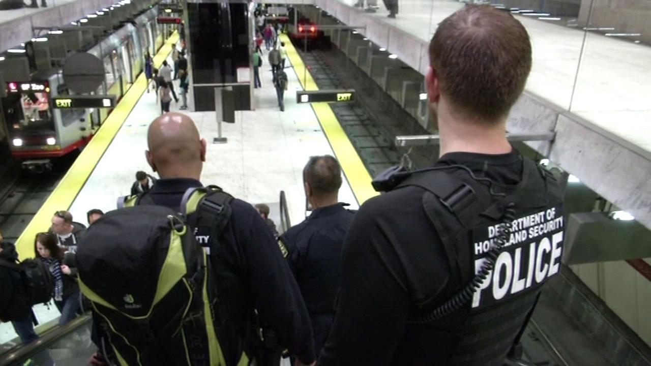 police patrolling BART