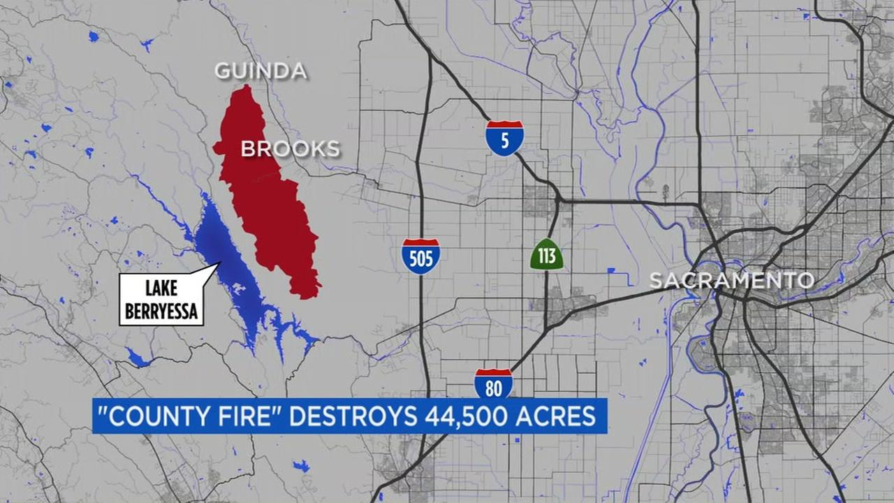 Lake Berryessa Fire Map.Crews Continue Battling County Fire Near Lake Berryessa Abc7news Com