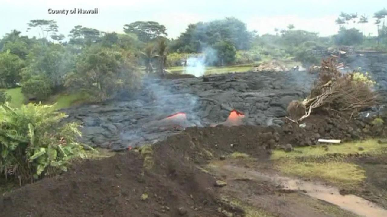 The National Guard has been called in to help provide security as lava from the Kilauea volcano moves toward a major road on the Big Island of Hawaii.