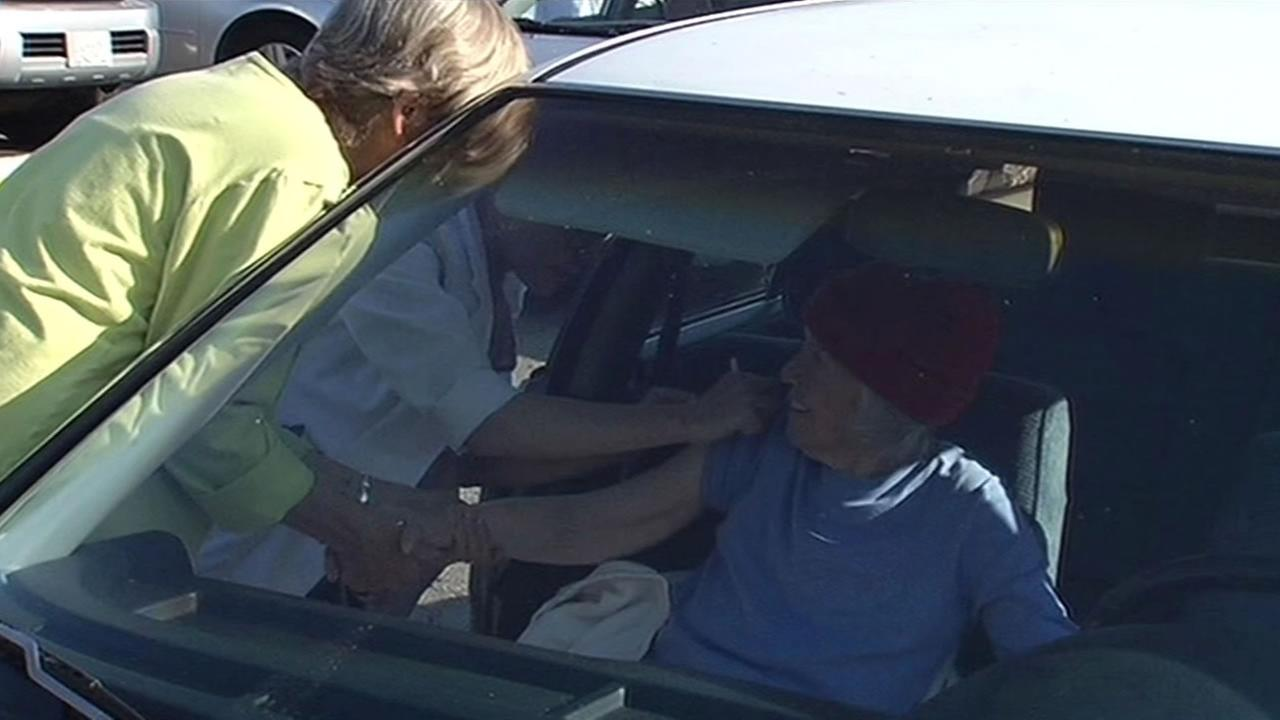 Drive-through flu shots were offered Thursday at Doctors Medical Center in San Pablo.