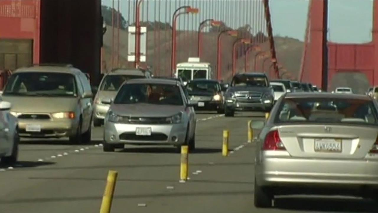 Prep work for the center barrier installation on the Golden Gate Bridge will close some lanes overnight on Saturday night, November 8, until Sunday morning, November 9.