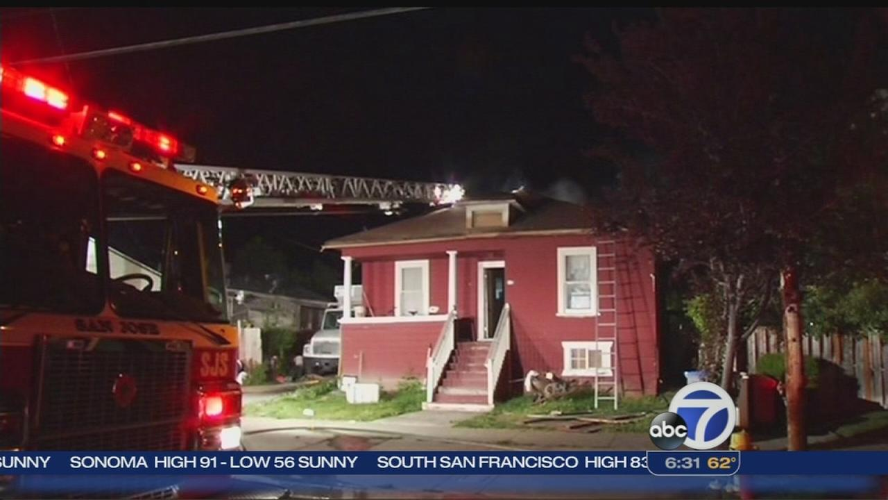 Three displaced by house fire in San Jose