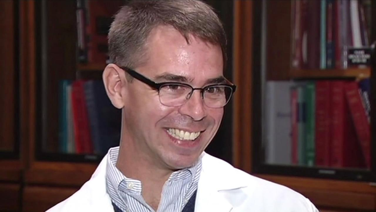 A Stanford emergency room surgeon is back on the job after his 21-day quarantine lifted Friday.