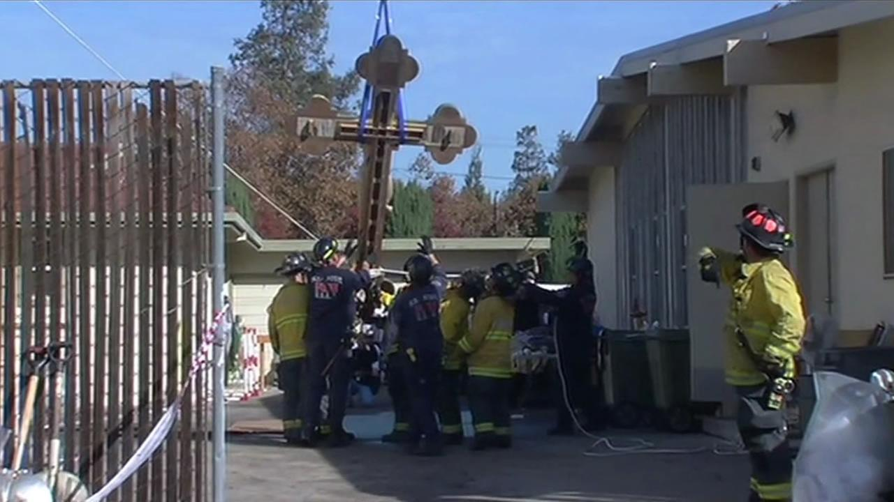 Crews save cross after Holy Cross Parish church in San Jose caught fire