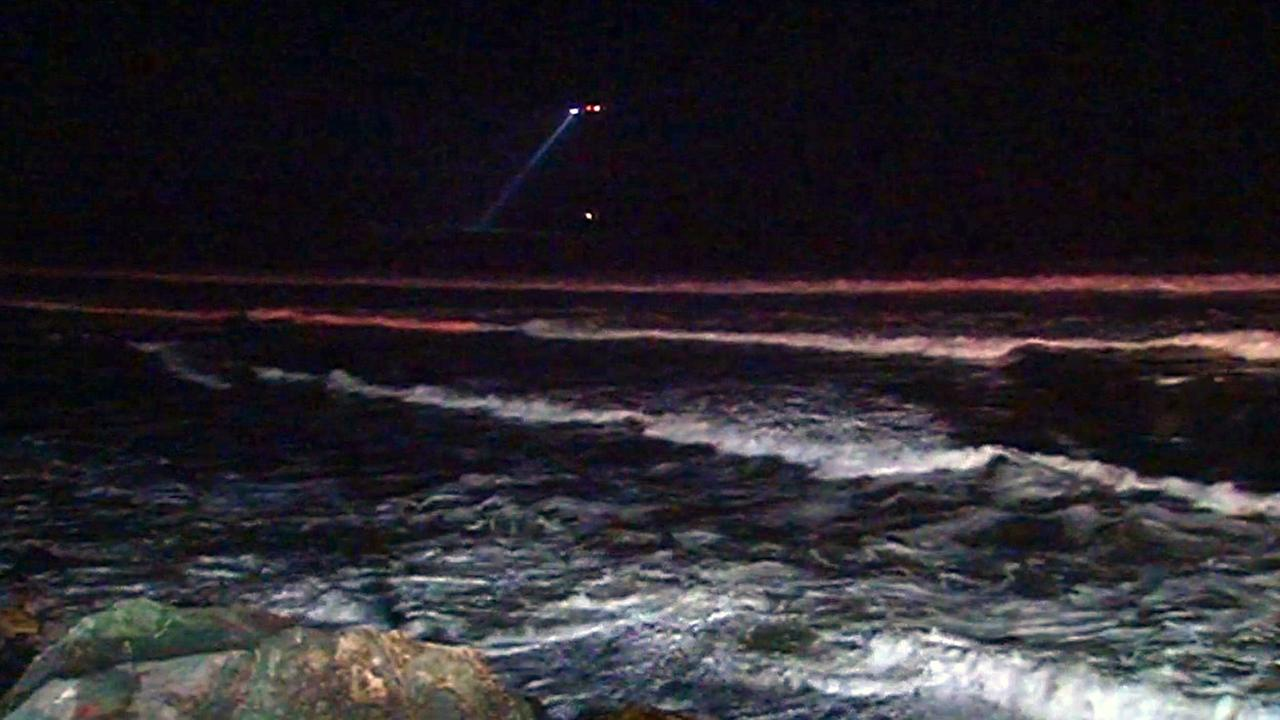 Search for missing surfer off coast of Pacifica.