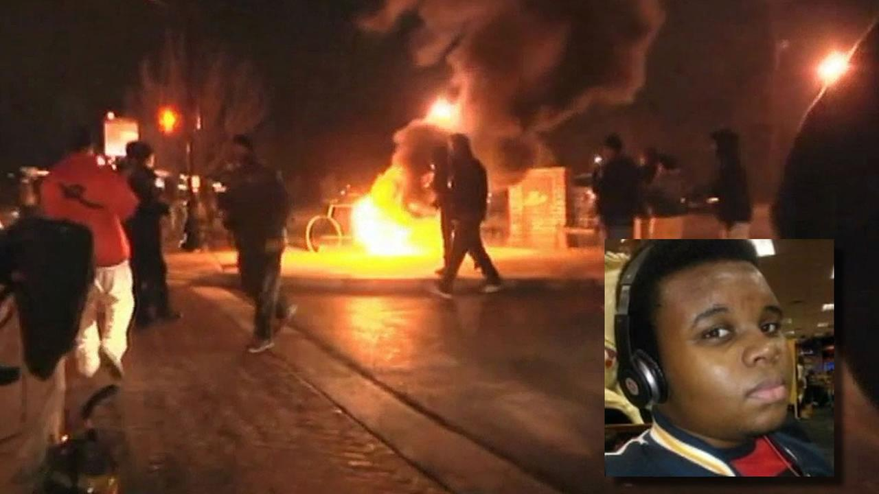 Ferguson fires, Michael Brown