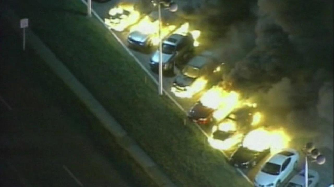 Car fires in Ferguson