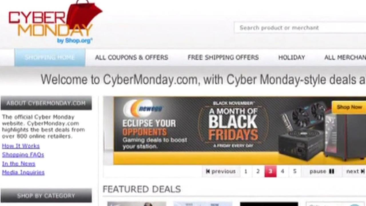 Cyber Monday website