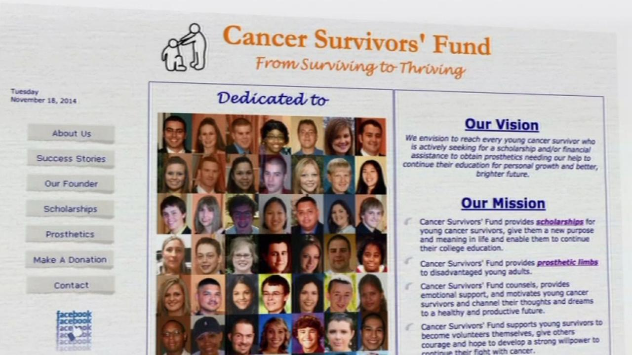 Cancer charity website