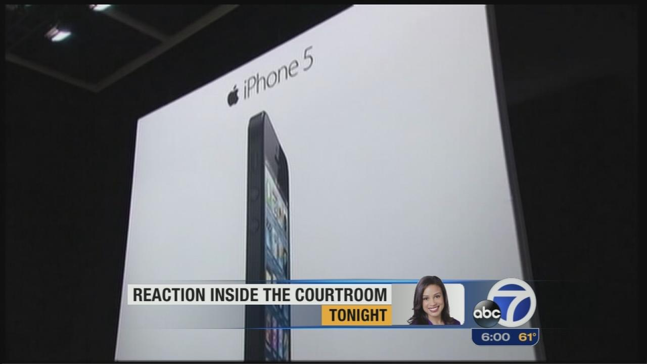 Verdict sides with Apple in lawsuit with Samsung