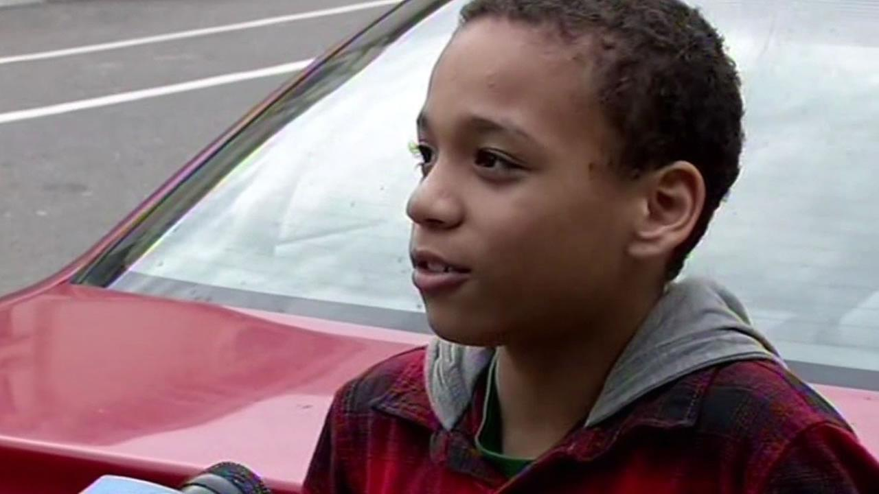kid talks about not having to go to school due to California storm