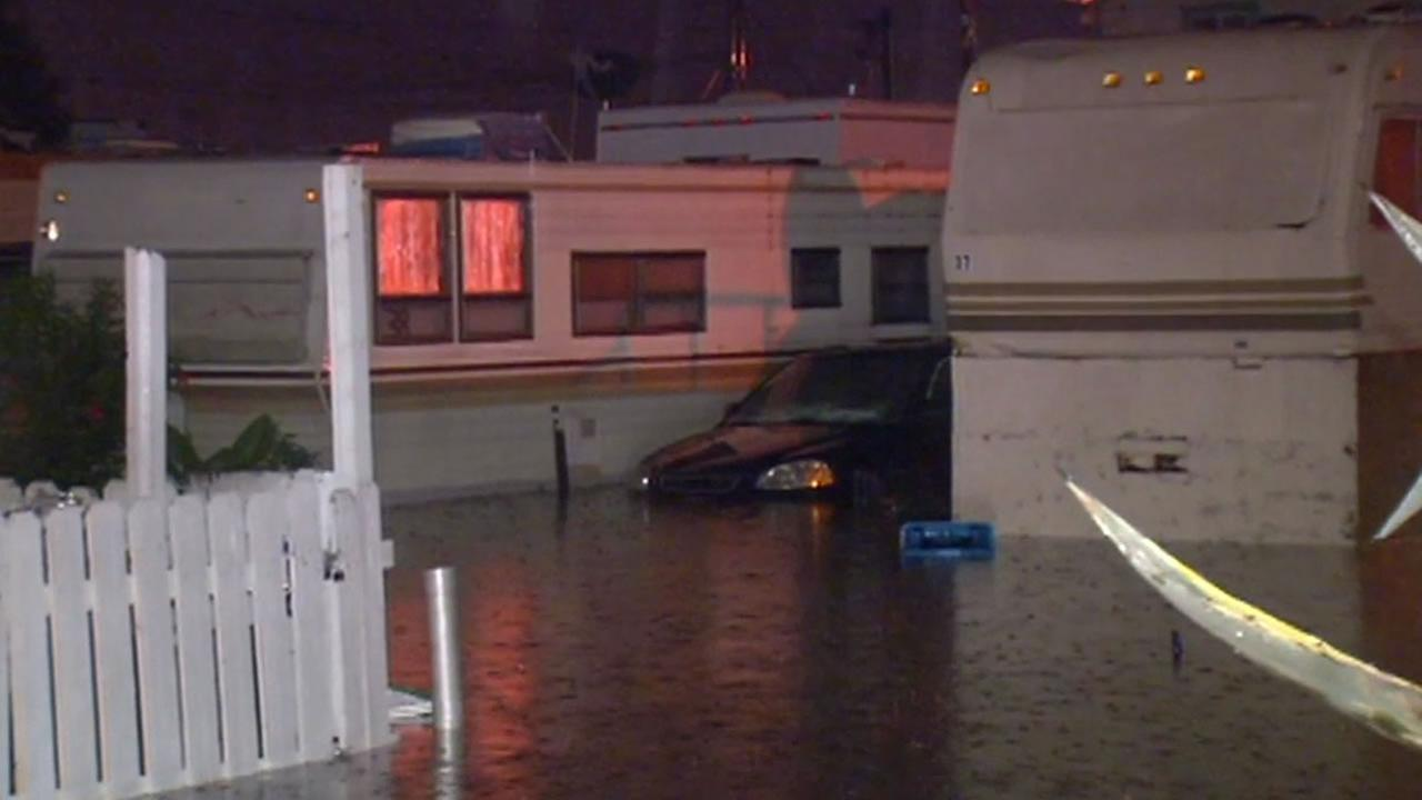 Redwood City mobile home park flooded