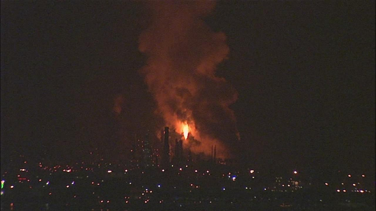 RAW VIDEO: Flaring operation at Chevron Richmond Refinery