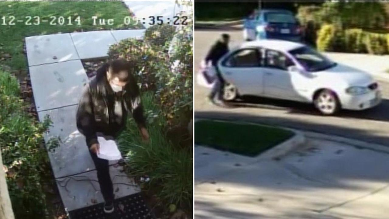San Jose package theft caught on surveillance video.