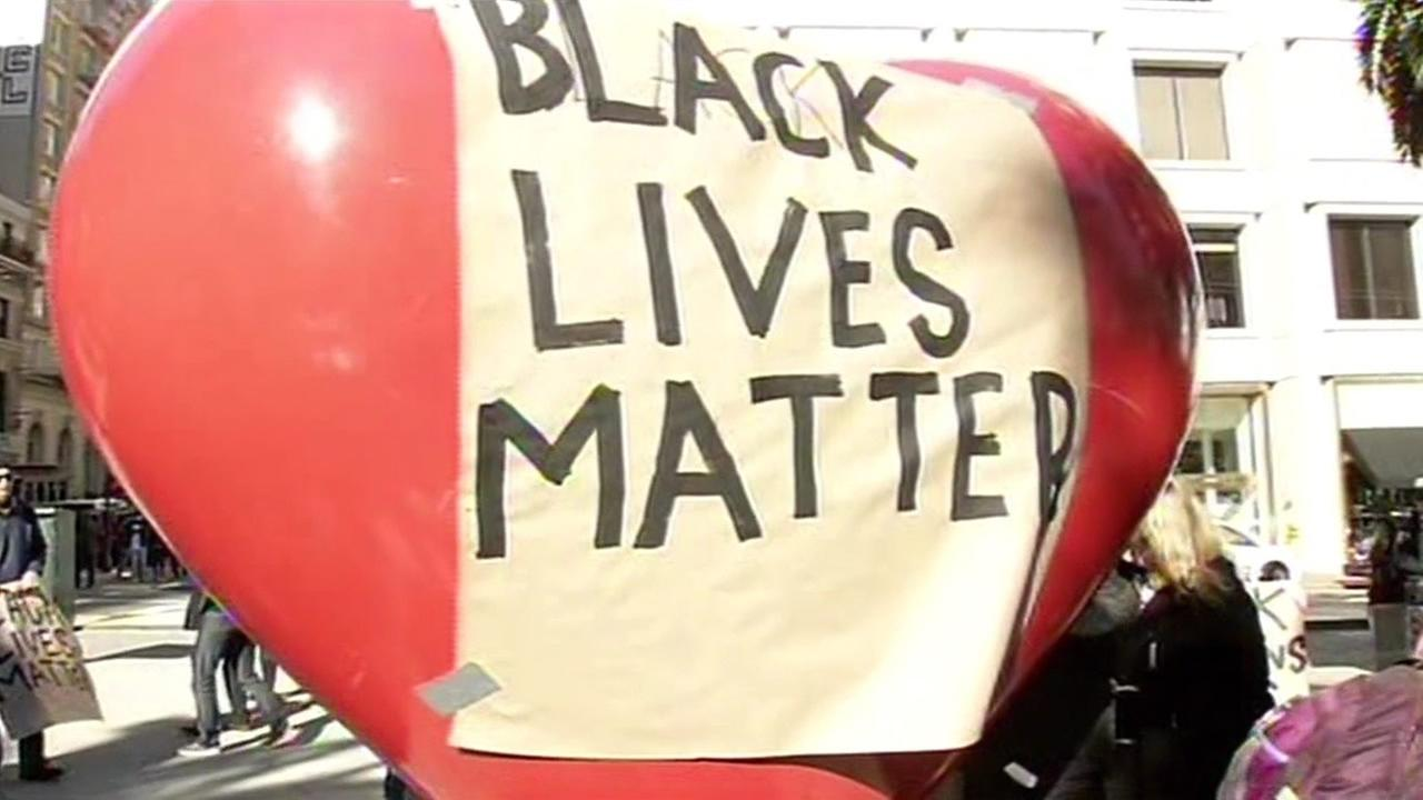Protest against police brutality held in San Franciscos Union Square