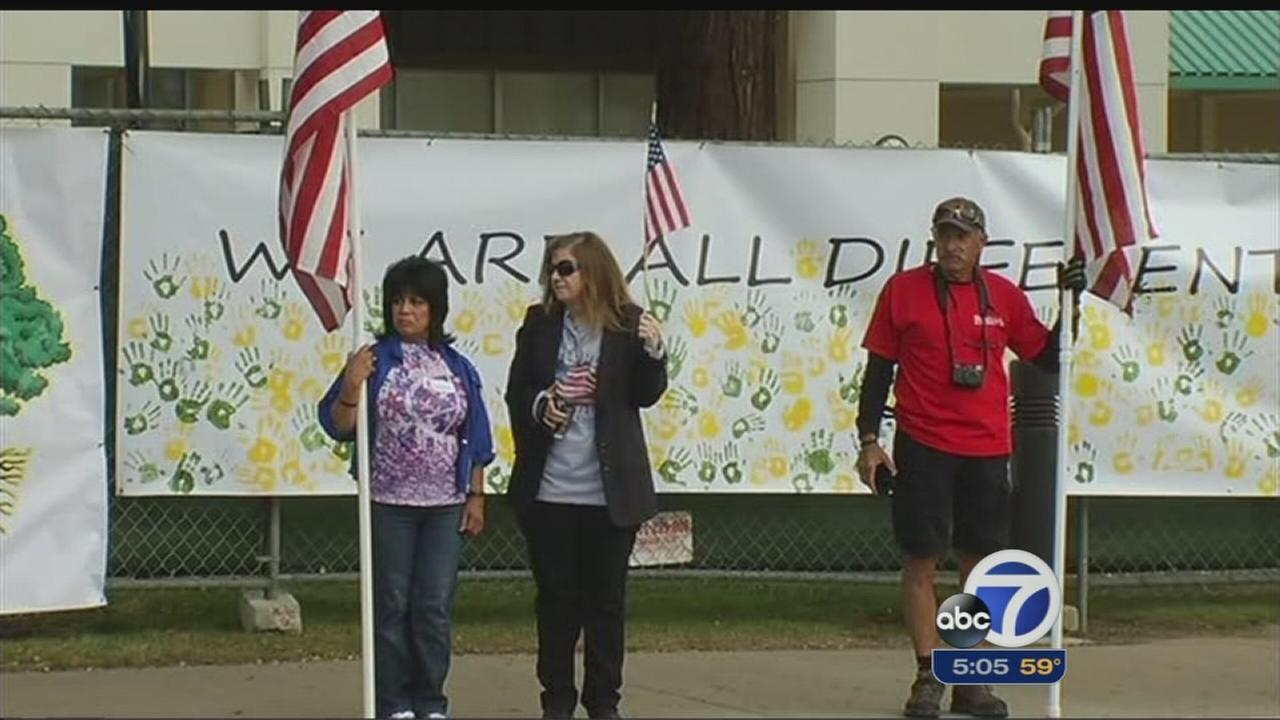 Flag controversy sparks protests on Cinco de Mayo