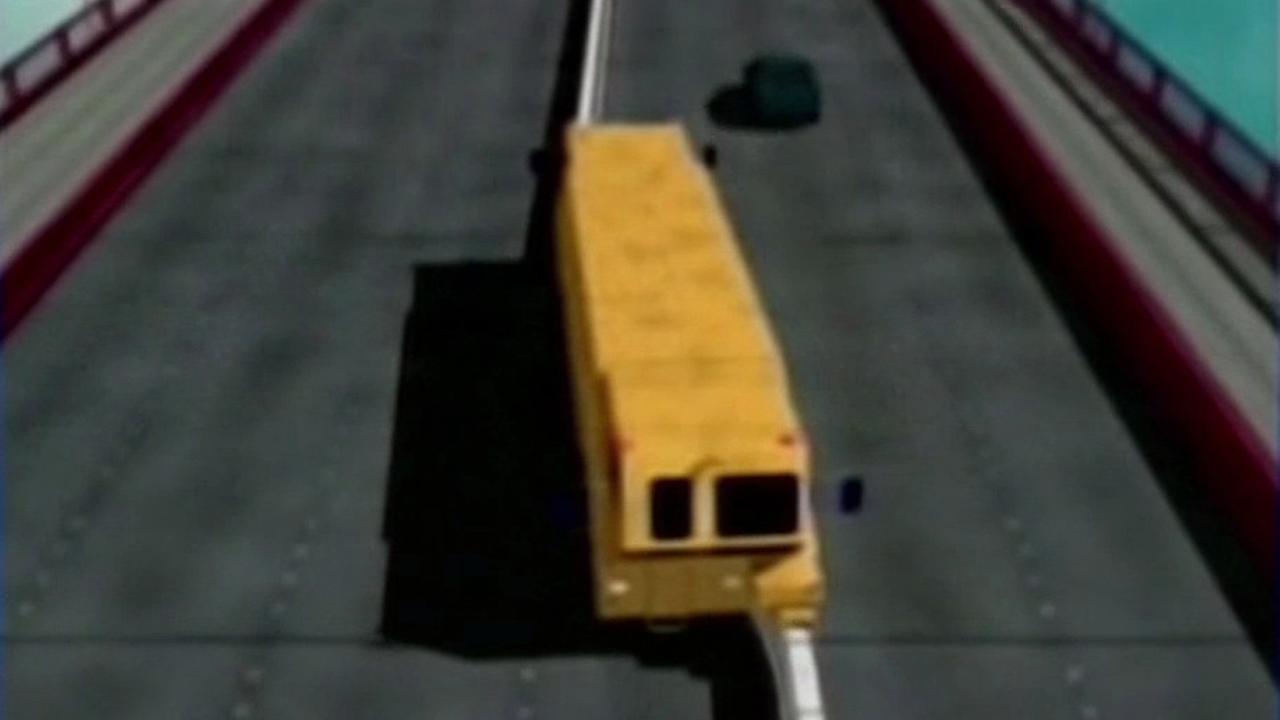 Golden Gate Bridge zipper truck animation