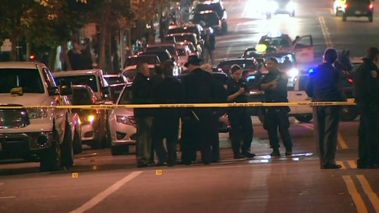 San Francisco police shooting scene.