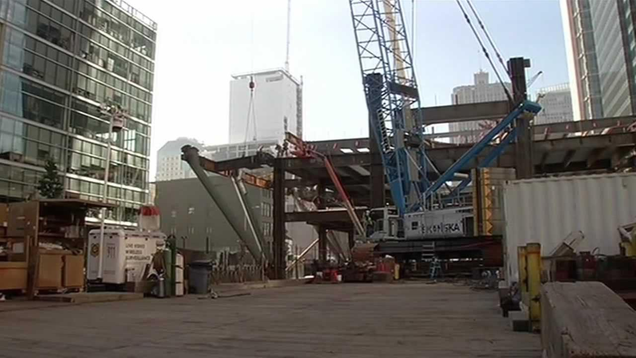 A key part of the high-speed rail project is now under construction in downtown San Francisco.