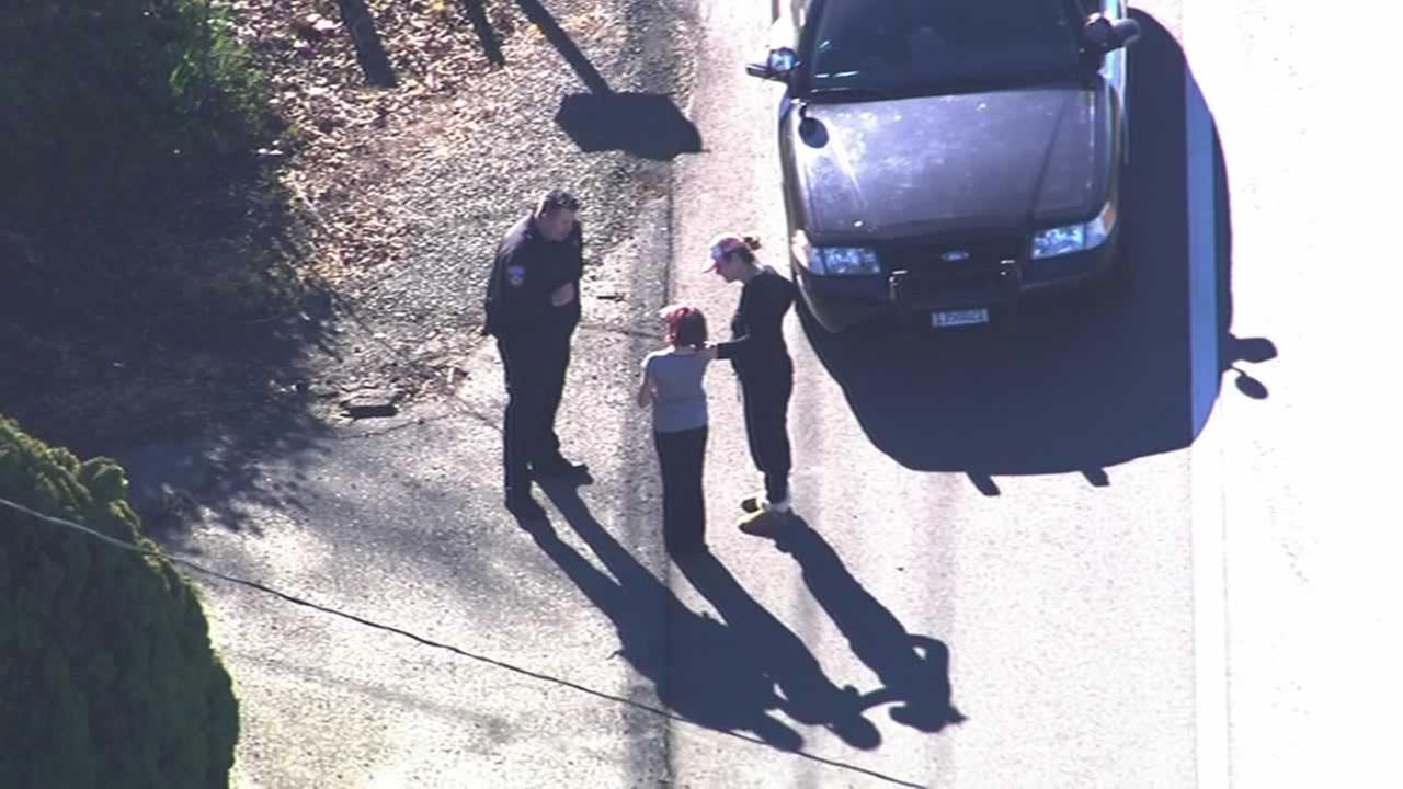 SKY7HD was overhead when a missing 10-year-old girl from Santa Rosa was found safe by police.