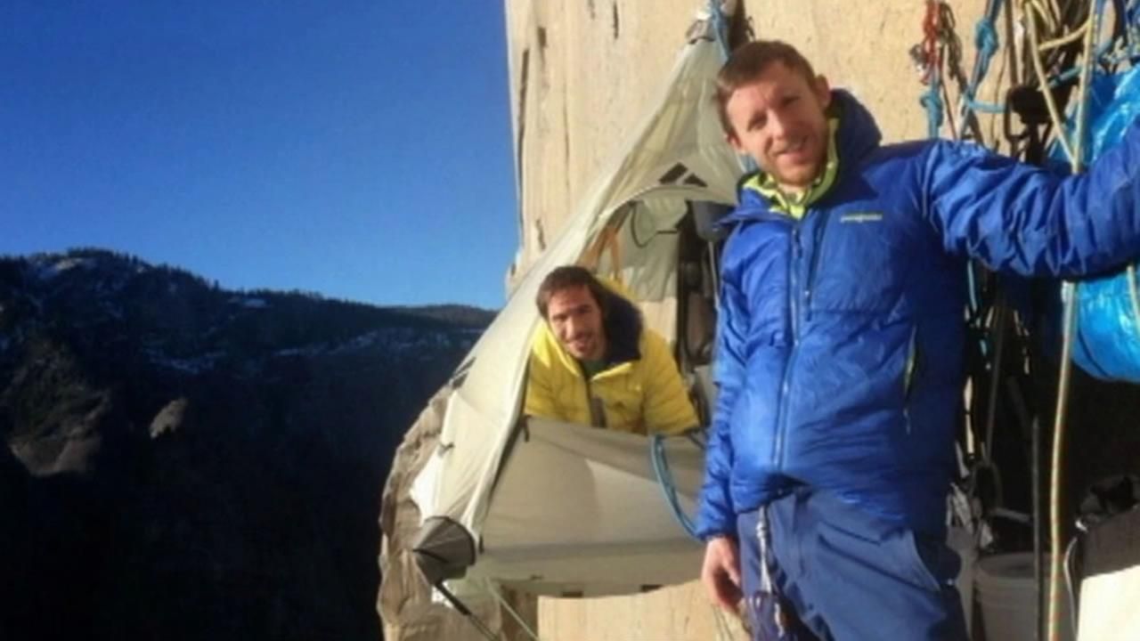 Tommy Caldwell and Kevin Jorgeson are making a groundbreaking climb up the Dawn Wall of El Capitan.