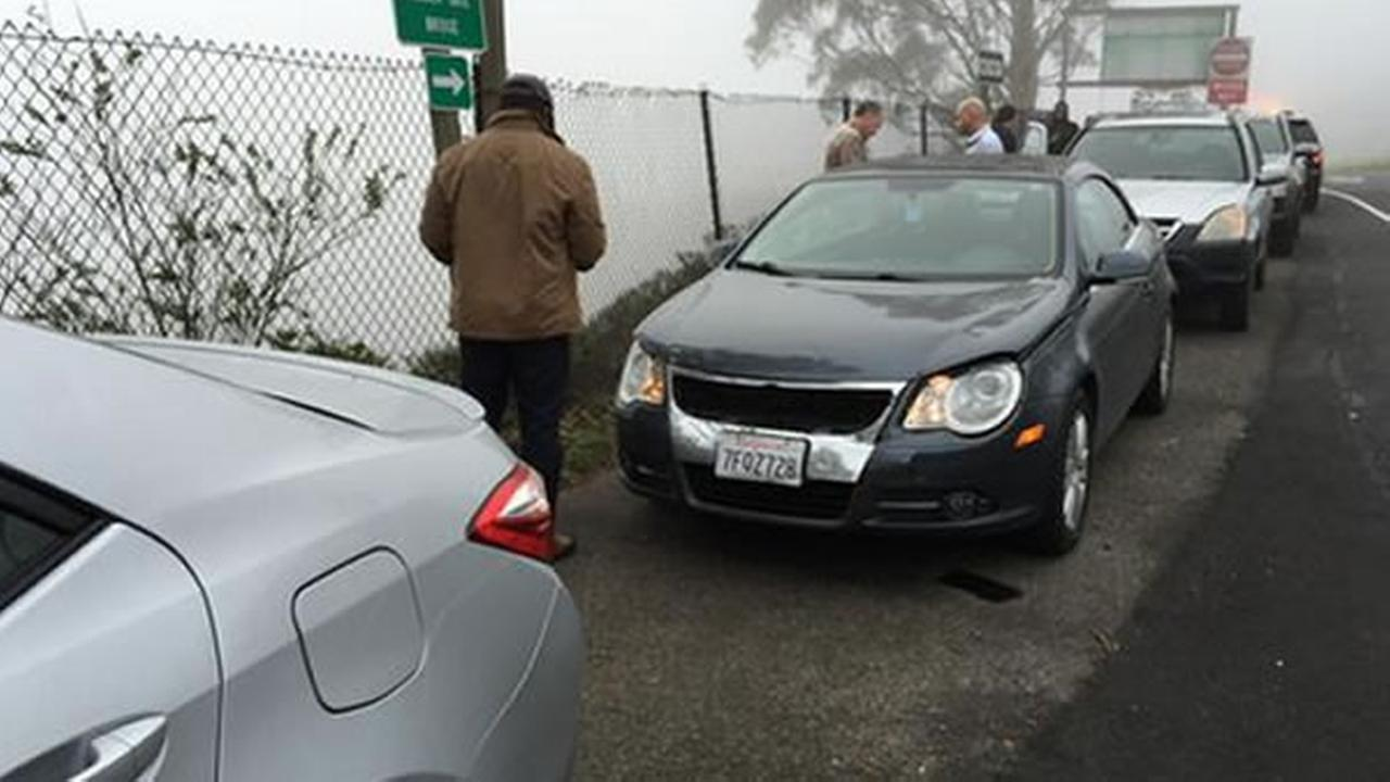 Multi-vehicle crash on Golden Gate Bridge