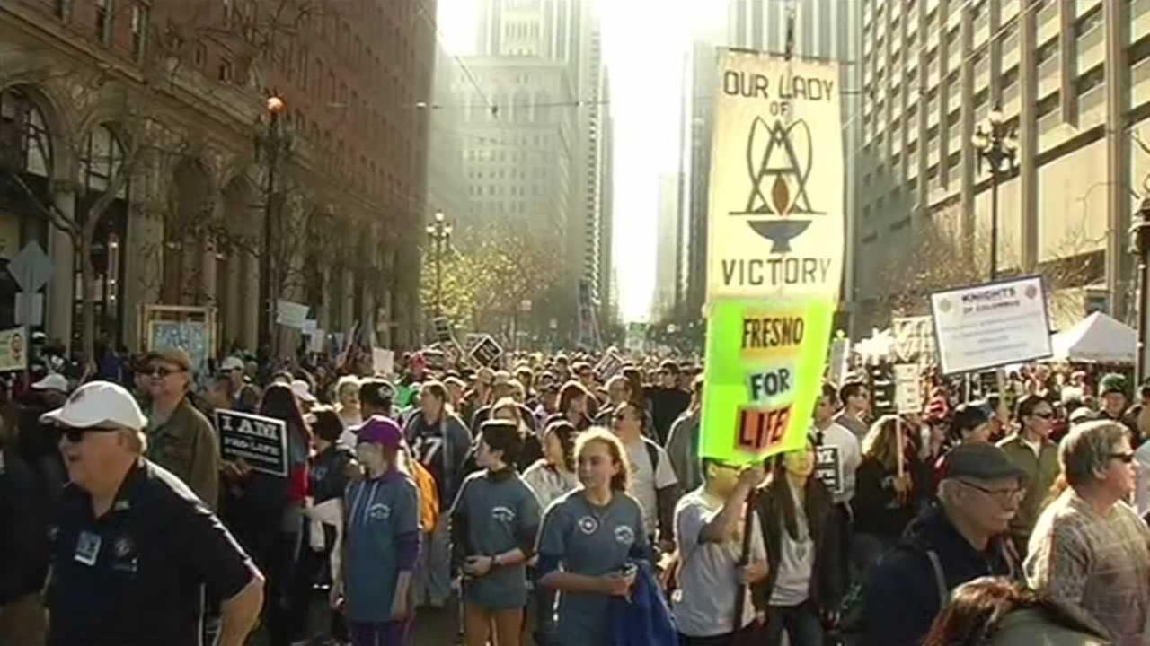 The annual Walk for Life march took place in San Francisco on Saturday.