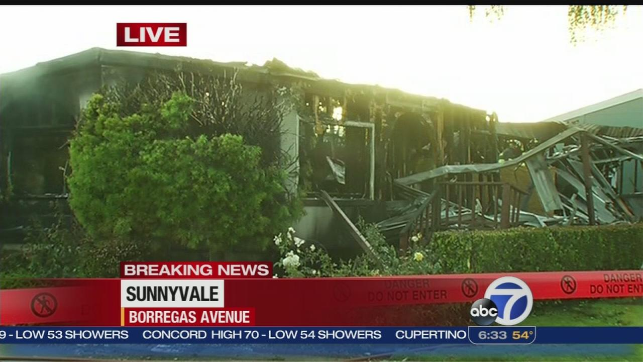 Two unaccounted for after fire in Sunnyvale
