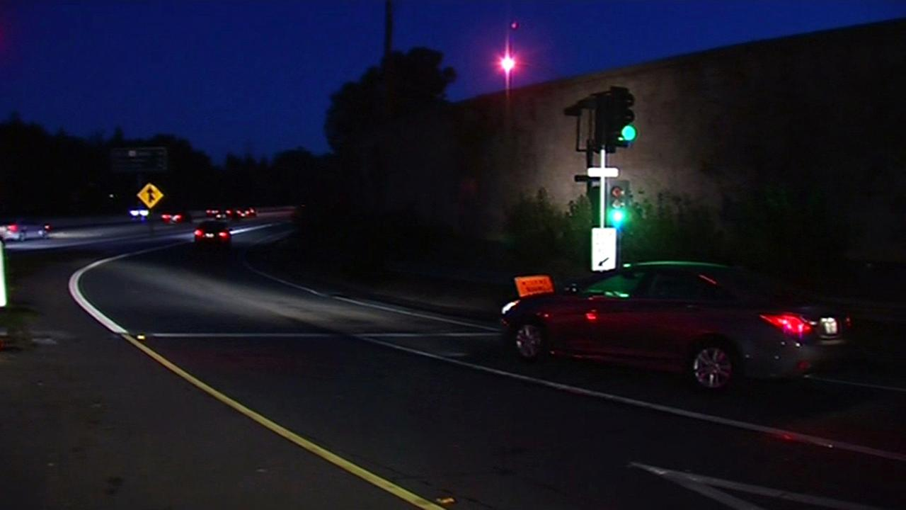 Metering lights on Hwy 85 in Sunnyvale.